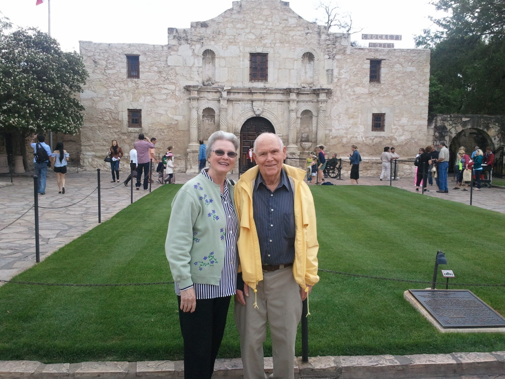 Mom and Dad at the Alamo.