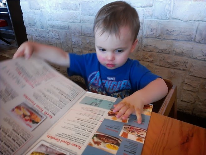 Picking out his meal ;)