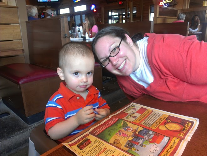 Joseph and me at dinner