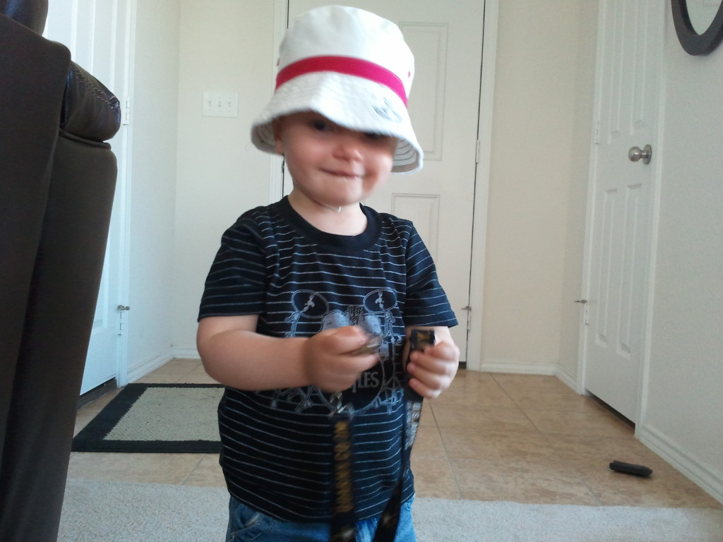 He loves hats!