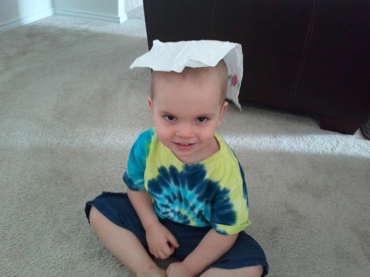 Paper towel hat