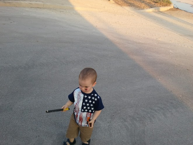 Playing with a (used up) Roman Candle