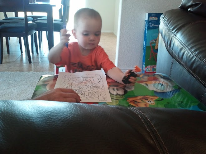 Coloring with Daddy