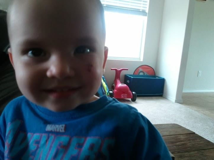 Happy boy in spite of everything