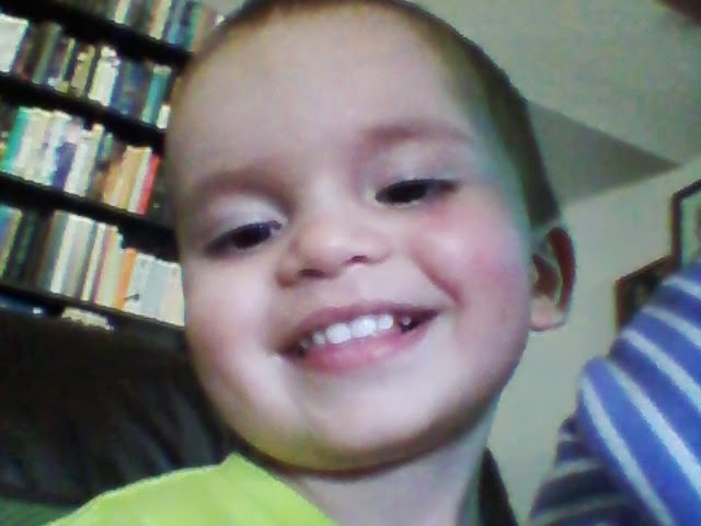 He wanted to see himself while the camera was on. Luckily my phone does that...