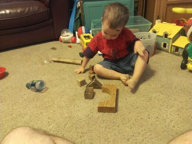 He loved the blocks